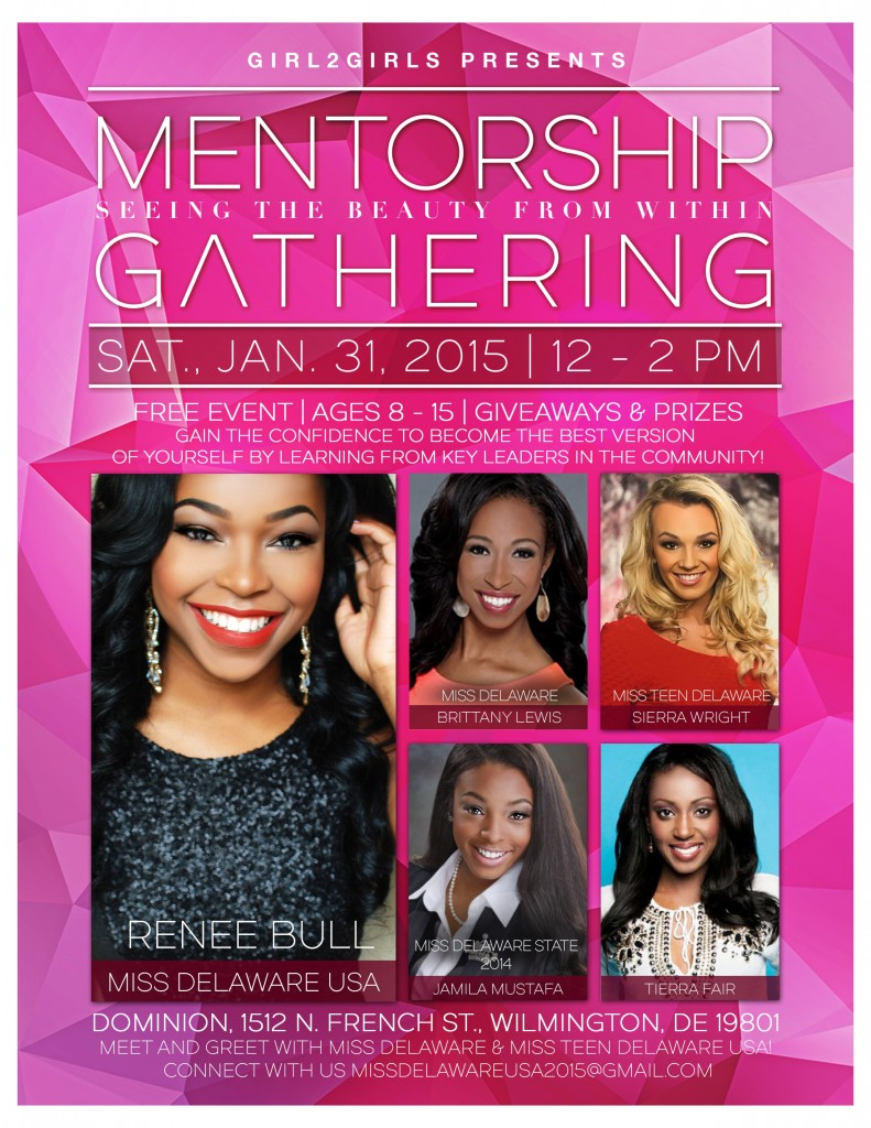 """Meet & Greet Miss Delaware USA 2015 (Renee Bull) at a """"Girl2Girls"""" event on Saturday, January 31, 2015 from 12 -2 pm"""